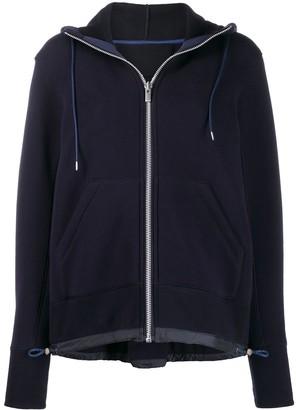 Sacai long sleeve hooded top