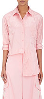 Sies Marjan Women's Wrinkled Cotton-Blend Satin Shirt