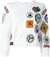 DSQUARED2 patch three-quarter sleeved sweatshirt - women - Cotton - S