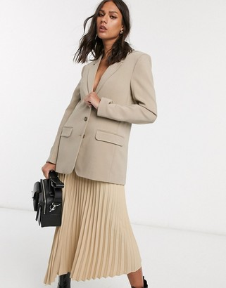 And other stories & oversized blazer in beige