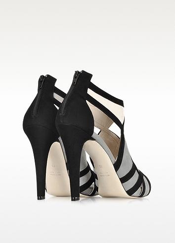 Le Parmentier Color Block Suede High Heel Sandal
