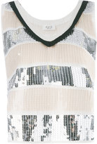 Aviu sequin embellished tank top - women - Cotton/Polyamide/Polyester - 40