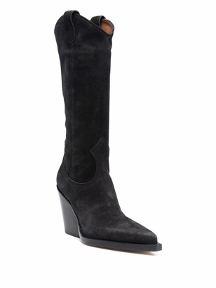 Paris Texas Pointed-Toe Suede Western Boots