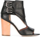 Laurence Dacade Rush cut-out boots - women - Wood/Leather - 36.5