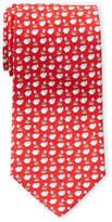 Salvatore Ferragamo Silk Red Sheep Print Tie