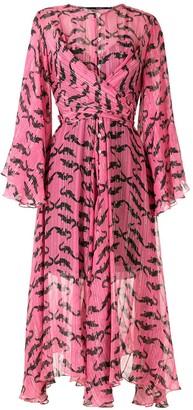 Eva Jacare silk midi dress