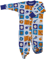 New Jammies White Sports Organic Footie - Infant