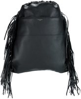 Givenchy drawstring fringed backpack - men - Calf Leather - One Size