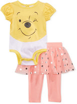 Disney Nannette 2-Pc. Winnie The Pooh Bodysuit & Skirted Leggings Set, Baby Girls (0-24 months)
