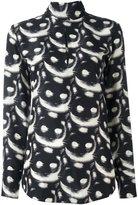 Nina Ricci cat print long sleeve shirt