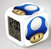 Enjoy Life : Cute Digital Multifunctional Alarm Clock With Glowing Led Lights and stickered Super Mario , Good Gift For Your Kids , Comes With Bonuses. Part 3 (16)