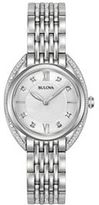 Bulova Women's Diamond Stainless Steel Watch - 96R212