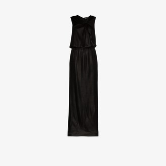 Tom Ford Asymmetric Halterneck Silk Evening Gown