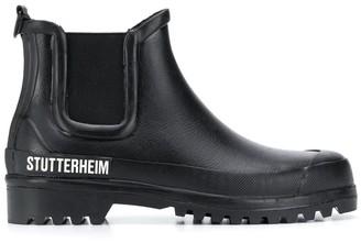 Stutterheim chunky logo print Chelsea boots