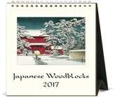 Cavallini CAL17-7 Japanese Woodblocks Desk Calendar