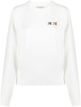 MAISON KITSUNÉ Double Fox Head patch sweatshirt