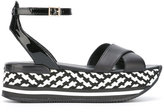 Hogan checkered sandals - women - Leather/Patent Leather/rubber - 37.5