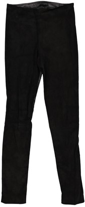 The Row Black Leather Trousers for Women