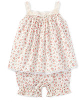 Ralph Lauren Floral Batiste Tank w/ Bloomers, Pink, Size 9-24 Months