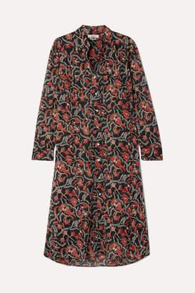 Etoile Isabel Marant Eliane Printed Cotton-voile Dress - Black