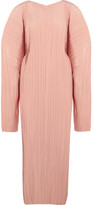 Jil Sander Plissé-silk Midi Dress - Antique rose