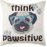 JCP HOME JCPenney HomeTM Think Pawsitive Decorative Pillow