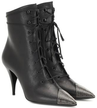 Saint Laurent Kiki 100 leather ankle boots
