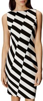 Karen Millen Barcode Striped Sheath Dress