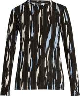 Proenza Schouler Ikat stripe-print long-sleeved cotton T-shirt