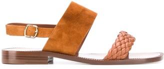 Santoni Woven Upper Sandals