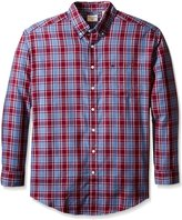 Dockers Big-Tall Long Sleeve No Wrinkle Twill Plaid Button Down Collar Shirt