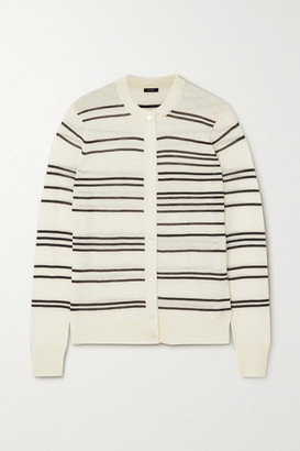 Joseph Striped Cashmere Cardigan - Ivory