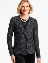 Talbots Fringed Vienna Tweed Jacket