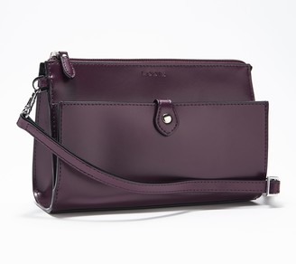 Lodis Leather Convertible Crossbody Clutch - Vicky