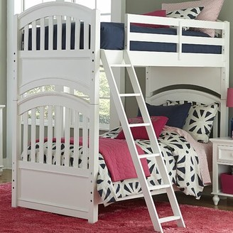 Three Posts Baby & Kids Full Bunk Bed Color: White