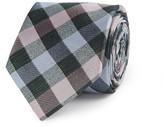 Jeff Banks Large Check 7cm Woven Silk Tie