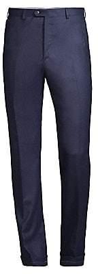Brioni Men's Solid Pleat Wool & Cashmere Trousers