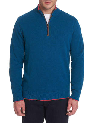 Robert Graham Men's Quarter-Zip Reverse-Cuffs Sweater