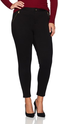 Calvin Klein Women's Plus Size Compression Pant with Zips