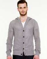 Le Château Cotton Button-Up Hooded Cardigan