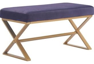 Elle Decor Aveline Upholstered Bench Upholstery: Violet Purple