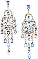 Nadri Blue Chandelier Statement Earrings
