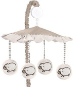 JoJo Designs Sweet Little Lamb Musical Baby Crib Mobile