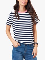 Joules Selma Short Sleeve Round Neck Cotton Top