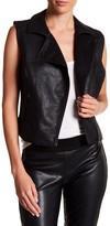 Joe Fresh Vegan Faux Leather Vest