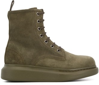 Alexander McQueen chunky lace-up boots