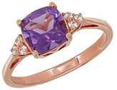 Lord & Taylor Amethyst and 14K Rose Gold Ring