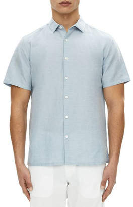 Theory Murrary Short-Sleeve Linen Sport Shirt