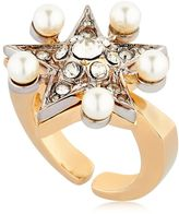 Schield Star Line Ring W/ Swarovski Crystals