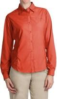 White Sierra Gobi Desert Shirt - UPF 30, Convertible Long Sleeve (For Women)